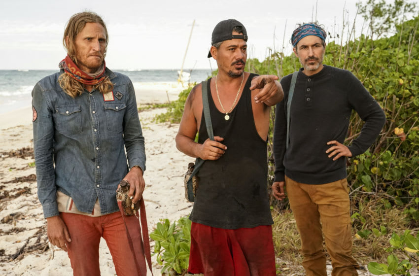 Survivor legends Rob Mariano, Tyson Apostol, and Ethen Zohn - (Photo: Robert Voets/CBS Entertainment ©2020 CBS Broadcasting, Inc. All Rights Reserved)