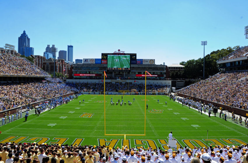 ATLANTA - SEPTEMBER 24: A general view of Bobby Dodd Stadium during the game between the Georgia Tech Yellow Jackets and the North Carolina Tar Heels on September 24, 2011 in Atlanta, Georgia. Photo by Scott Cunningham/Getty Images)
