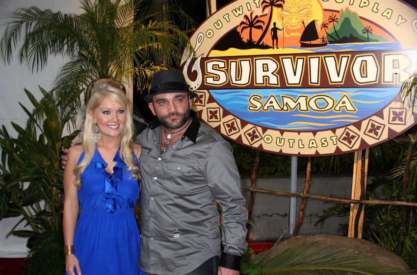 LOS ANGELES, CA - DECEMBER 20: Survivor winner Natalie White (L) and runner up Russell Hantz attend the season finale of the television show Survivor: Samoa - Castaways at CBS Television City on December 20, 2009 in Los Angeles, California. (Photo by Frederick M. Brown/Getty Images)
