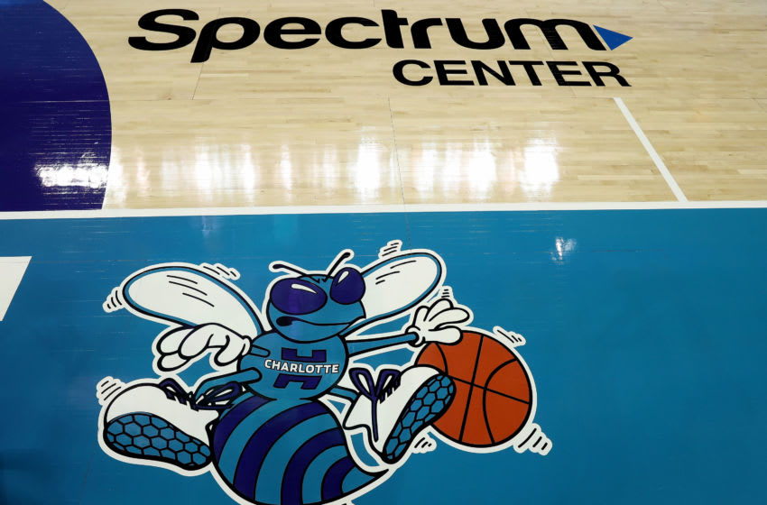 Charlotte Hornets logo. (Photo by Streeter Lecka/Getty Images)