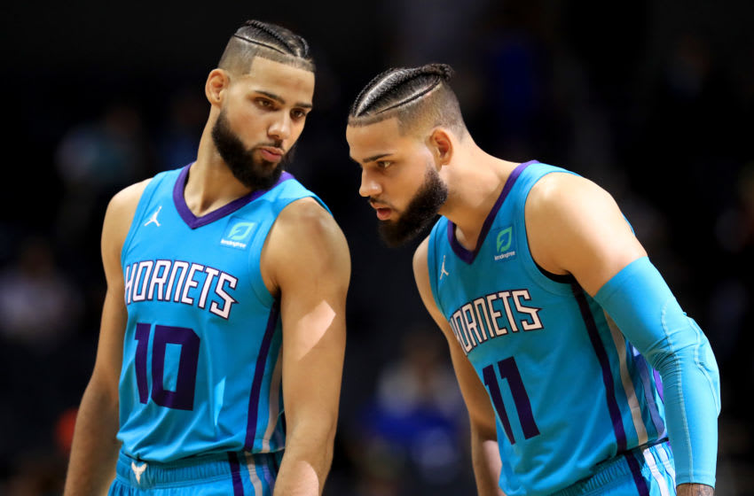 Charlotte Hornets Caleb and Cody Martin. (Photo by Streeter Lecka/Getty Images)