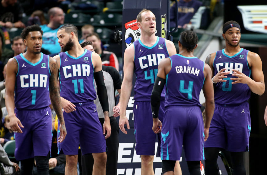 Charlotte Hornets bench. (Photo by Justin Casterline/Getty Images)