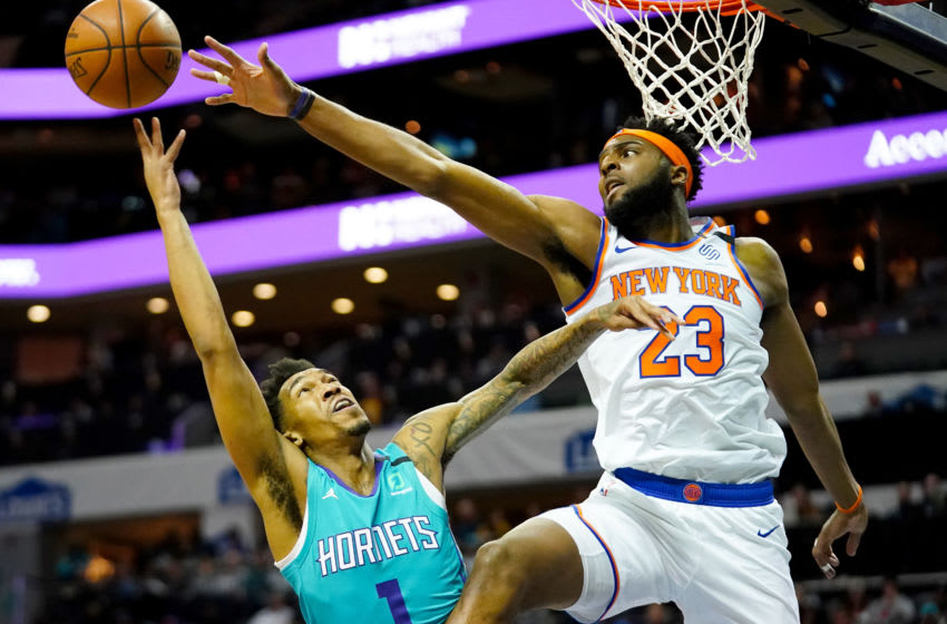 Charlotte Hornets Mitchell Robinson. (Photo by Jacob Kupferman/Getty Images)