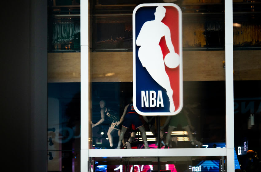 NBA Logo. (Photo by Jeenah Moon/Getty Images)