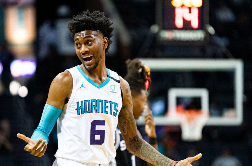 Charlotte Hornets Jalen McDaniels. (Photo by Jacob Kupferman/Getty Images)