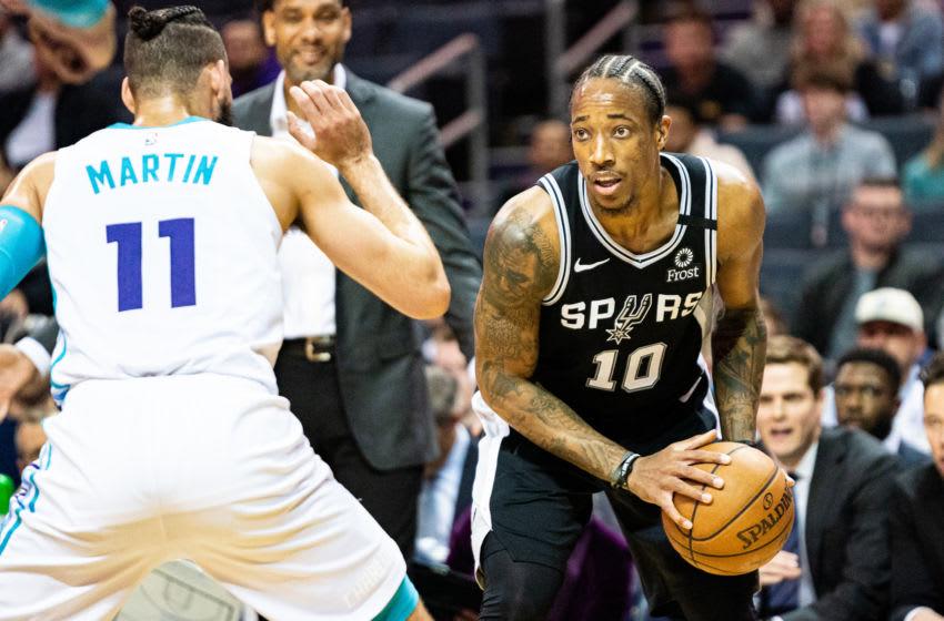 San Antonio Spurs DeMar DeRozan. (Photo by Jacob Kupferman/Getty Images)