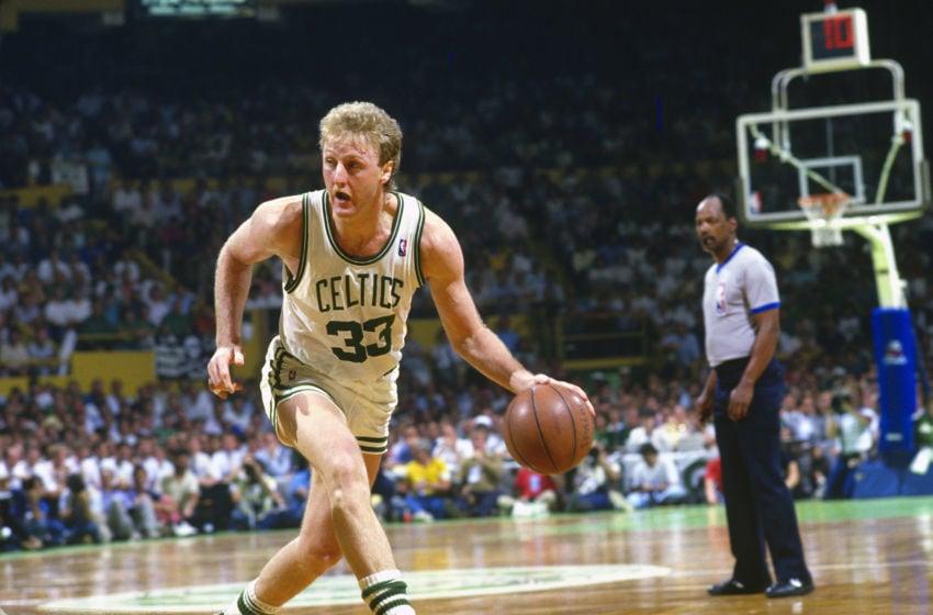 Boston Celtics Larry Bird. (Photo by Focus on Sport/Getty Images)