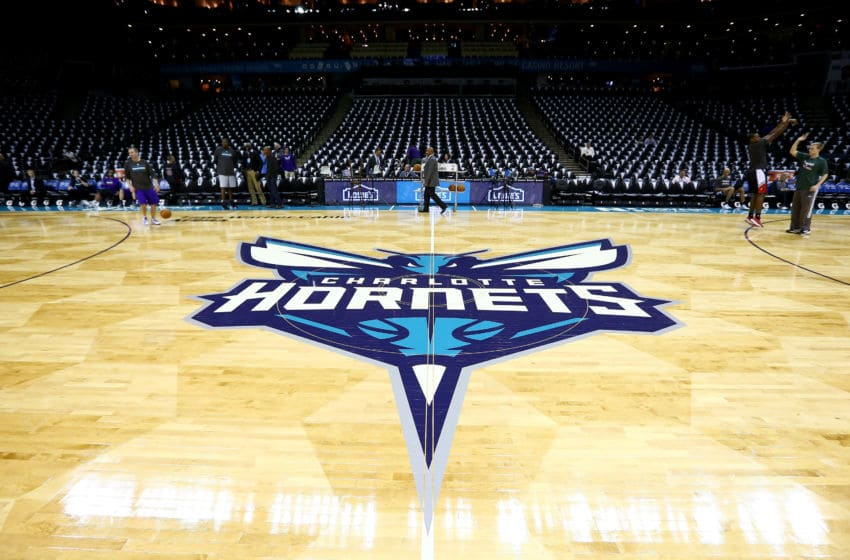 Charlotte Hornets' court. (Photo by Streeter Lecka/Getty Images)