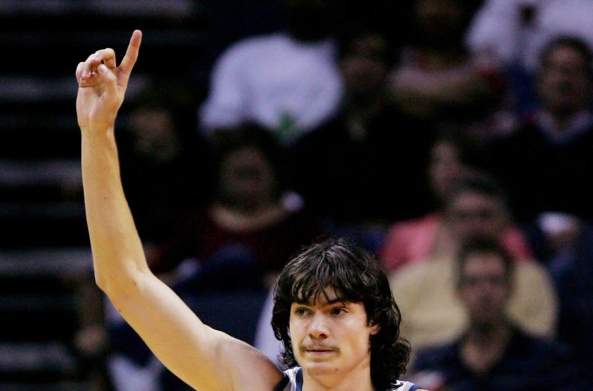 CHARLOTTE, NC - NOVEMBER 01: Adam Morrison #35 of the Charlotte Bobcats reacts to being called for a foul during their game against the Indiana Pacers on November 1, 2006 at the Charlotte Bobcats Arena in Charlotte, North Carolina. NOTE TO USER: User expressly acknowledges and agrees that, by downloading and or using this photograph, User is consenting to the terms and conditions of the Getty Images License Agreement. (Photo by Streeter Lecka/Getty Images)