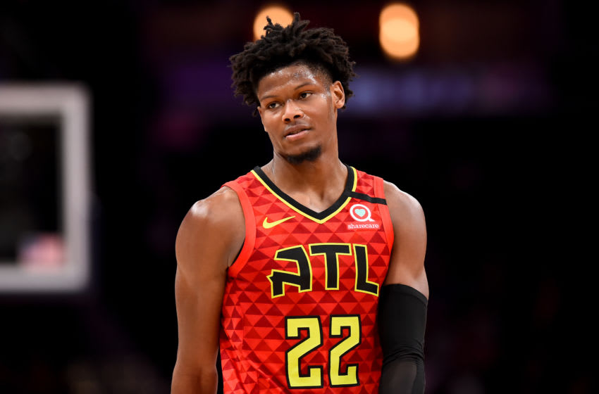 WASHINGTON, DC - MARCH 06: Cam Reddish #22 of the Atlanta Hawks looks on against the Washington Wizards during the second half at Capital One Arena on March 06, 2020 in Washington, DC. NOTE TO USER: User expressly acknowledges and agrees that, by downloading and or using this photograph, User is consenting to the terms and conditions of the Getty Images License Agreement. (Photo by Will Newton/Getty Images)