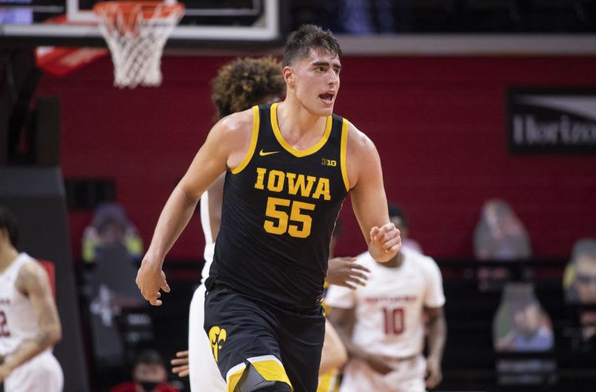 Iowa Hawkeys Luka Garza. (Photo by Benjamin Solomon/Getty Images)