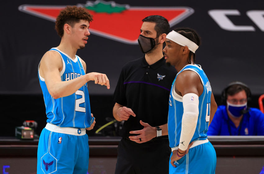 Charlotte Hornets LaMelo Ball. (Photo by Mike Ehrmann/Getty Images)
