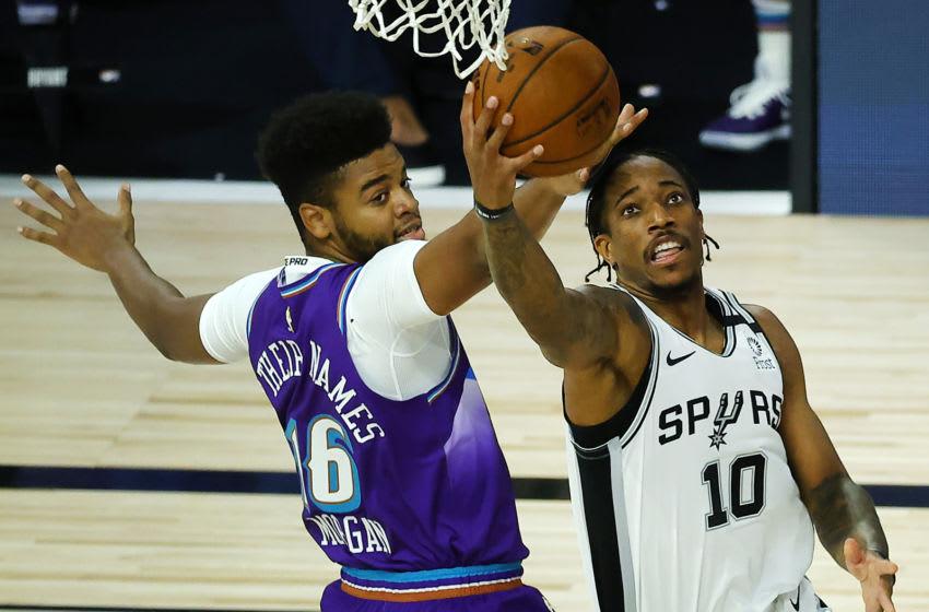 San Antonio Spurs DeMar DeRozan. (Photo by Kevin C. Cox/Getty Images)