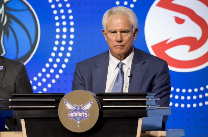 Charlotte Hornets Mitch Kupchak. Mandatory Credit: Patrick Gorski-USA TODAY Sports