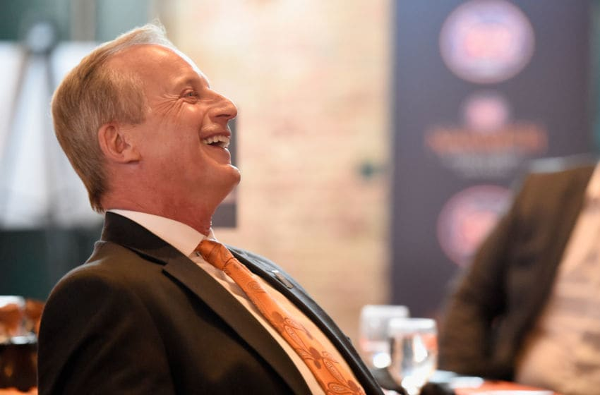 MINNEAPOLIS, MN - APRIL 07: 2019 Werner Ladder Naismith Men's College Coach of the Year Rick Barnes of the Tennessee Volunteers looks on during the 2019 Naismith Awards Brunch at the Nicolette Island Pavilion on April 7, 2019 in Minneapolis, Minnesota. (Photo by Hannah Foslien/Getty Images)