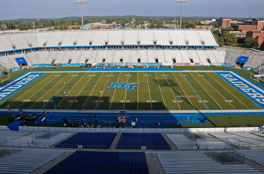 MURFREESBORO, TN - SEPTEMBER 02: A general view of Floyd Stadium at Middle Tennessee State University prior to a game against the Vanderbilt Commodores on September 2, 2017 in Murfreesboro, Tennessee. (Photo by Frederick Breedon/Getty Images)