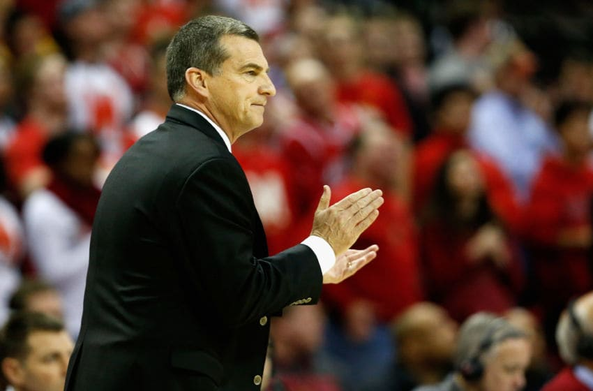 COLLEGE PARK, MD - JANUARY 06: Head coach Mark Turgeon looks on against the Rutgers Scarlet Knights in the first half at Xfinity Center on January 6, 2016 in College Park, Maryland. (Photo by Rob Carr/Getty Images)