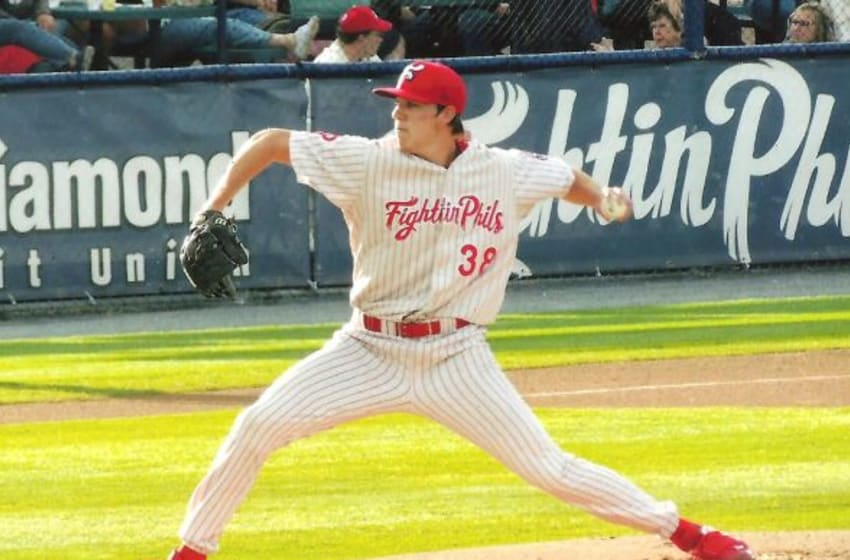 Lefty Tom Windle came to the Phillies from the Los Angeles Dodgers in the Jimmy Rollins trade in late 2014.