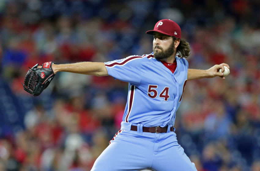 Austin Davis #54 of the Philadelphia Phillies (Photo by Hunter Martin/Getty Images)