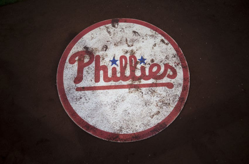 A general view of the Philadelphia Phillies batting circle (Photo by Mitchell Leff/Getty Images)