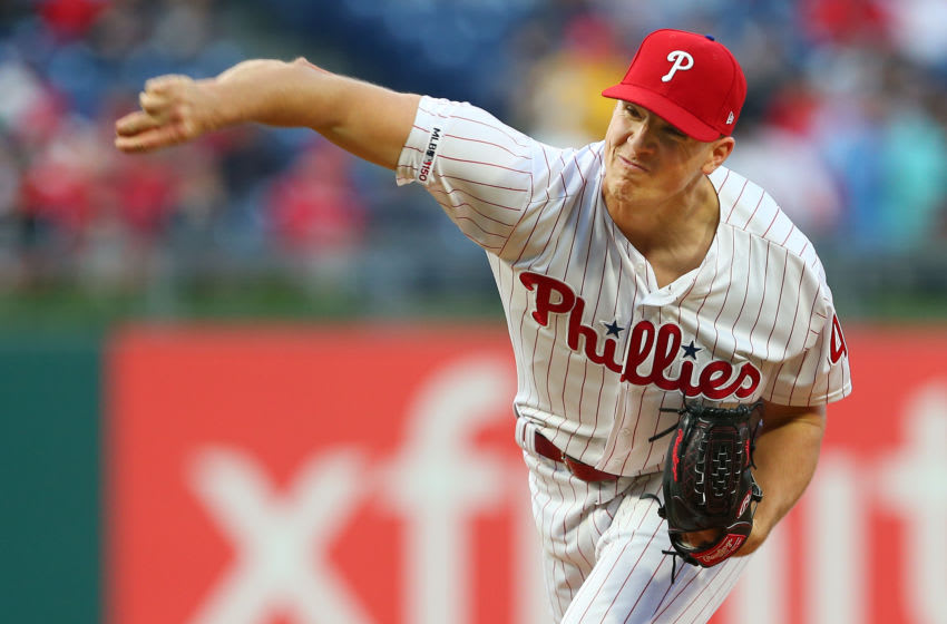 PHILADELPHIA, PA - APRIL 16: Nick Pivetta #43 of the Philadelphia Phillies in action against the New York Mets during a game at Citizens Bank Park on April 16, 2019 in Philadelphia, Pennsylvania. (Photo by Rich Schultz/Getty Images)