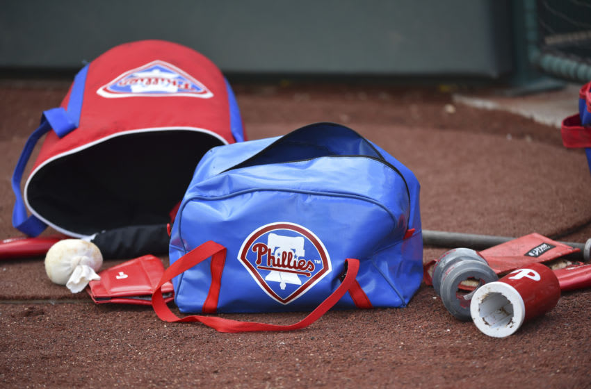 Philadelphia Phillies bags (Photo by Ed Zurga/Getty Images)