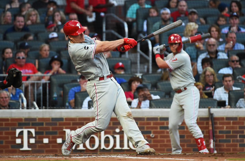 J.T. Realmuto #10 of the Philadelphia Phillies (Photo by Logan Riely/Getty Images)