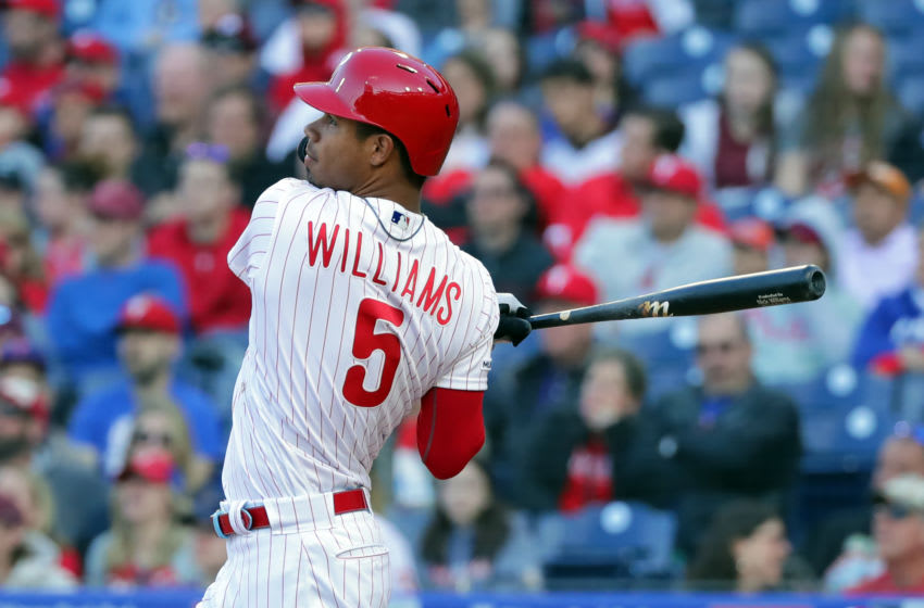 Nick Williams #5 of the Philadelphia Phillies (Photo by Hunter Martin/Getty Images)