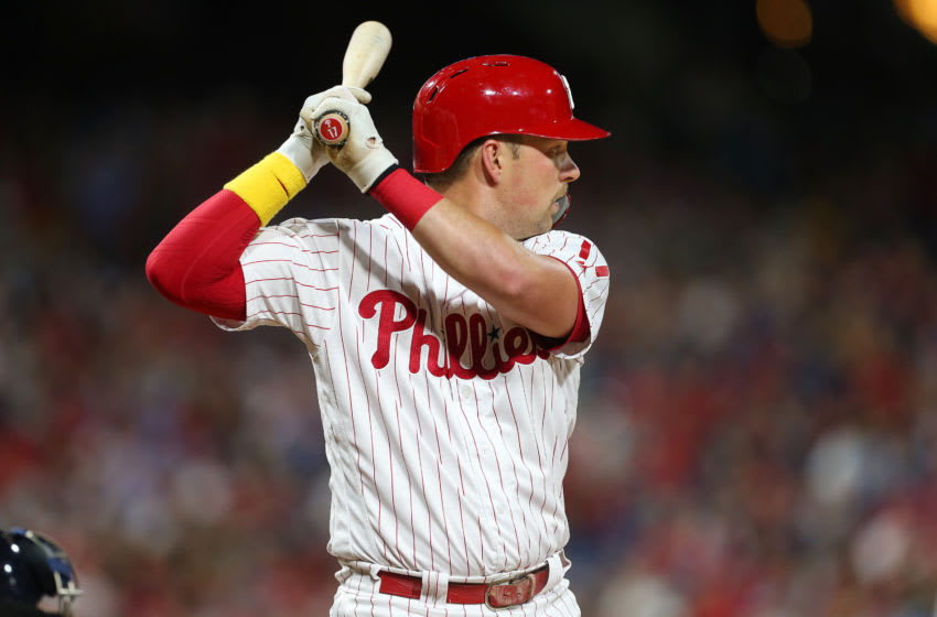Rhys Hoskins, Philadelphia Phillies (Photo by Rich Schultz/Getty Images)