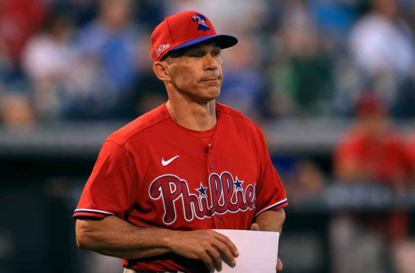 Manager Joe Girardi #25 of the Philadelphia Phillies (Photo by Carmen Mandato/Getty Images)
