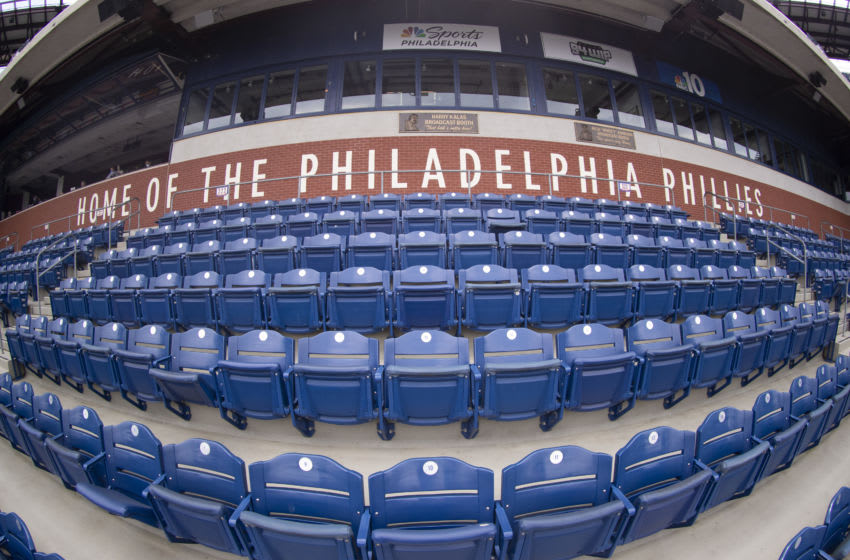 A general view of the stadium seats at Citizens Bank Park (Photo by Mitchell Leff/Getty Images)
