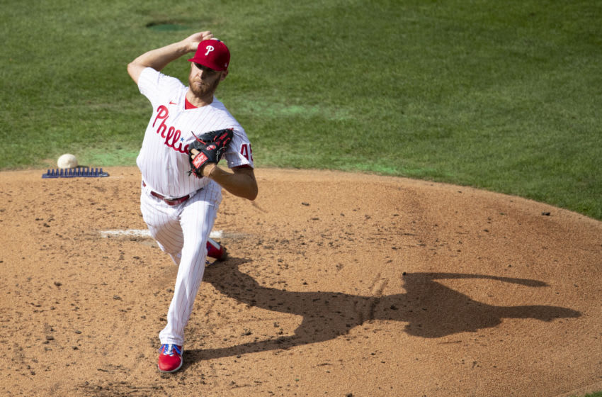 Zack Wheeler #45 of the Philadelphia Phillies (Photo by Mitchell Leff/Getty Images)