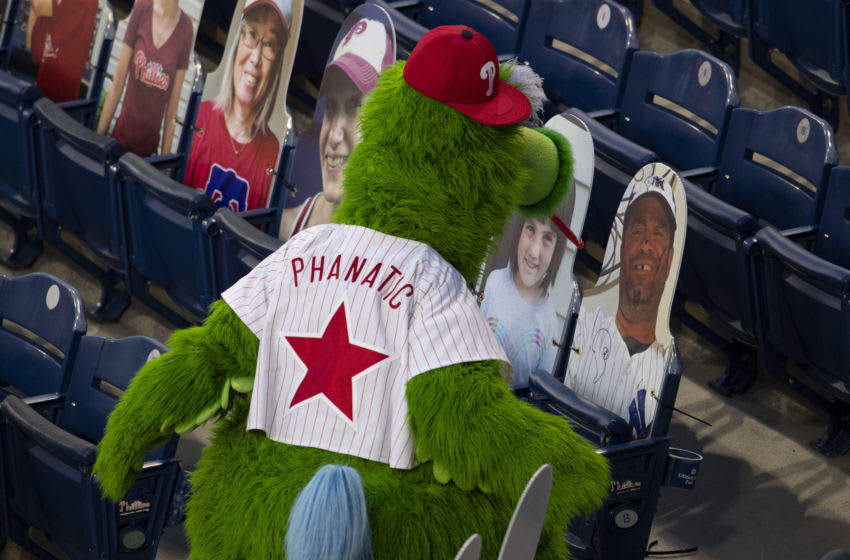 The Phillie Phanatic (Photo by Mitchell Leff/Getty Images)