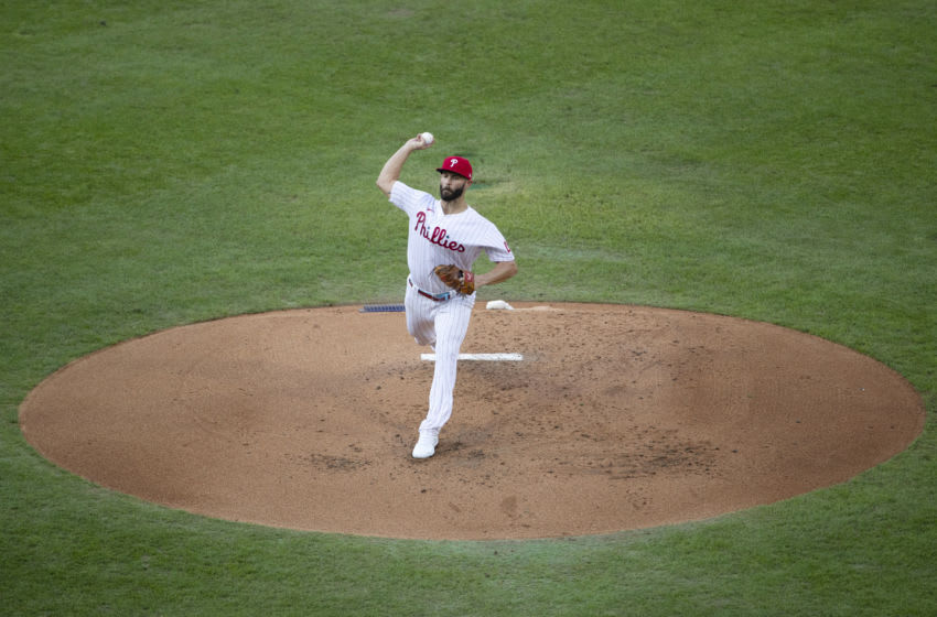 Jake Arrieta #49 of the Philadelphia Phillies (Photo by Mitchell Leff/Getty Images)