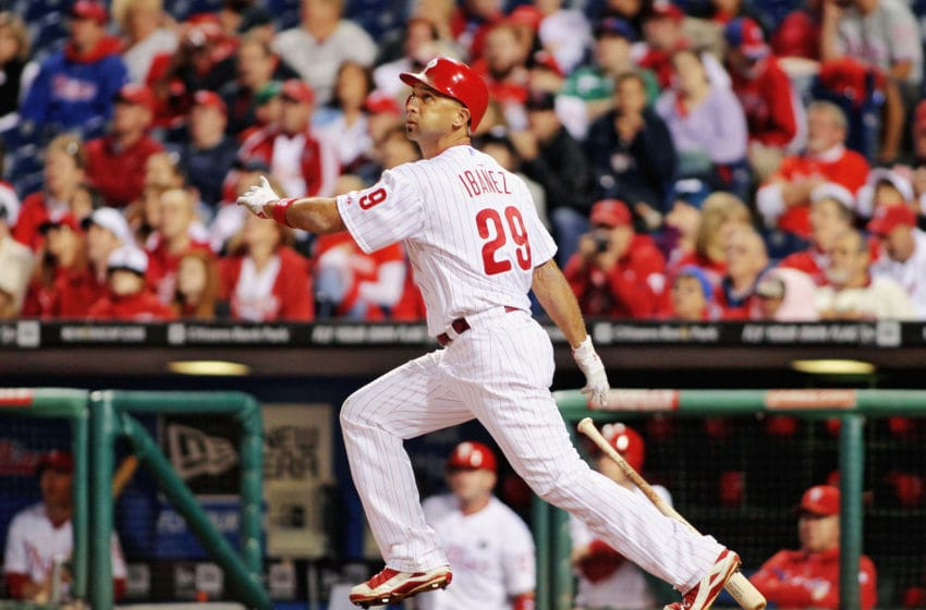 Raul Ibanez #29 of the Philadelphia (Photo by L Redkoles/Getty Images)