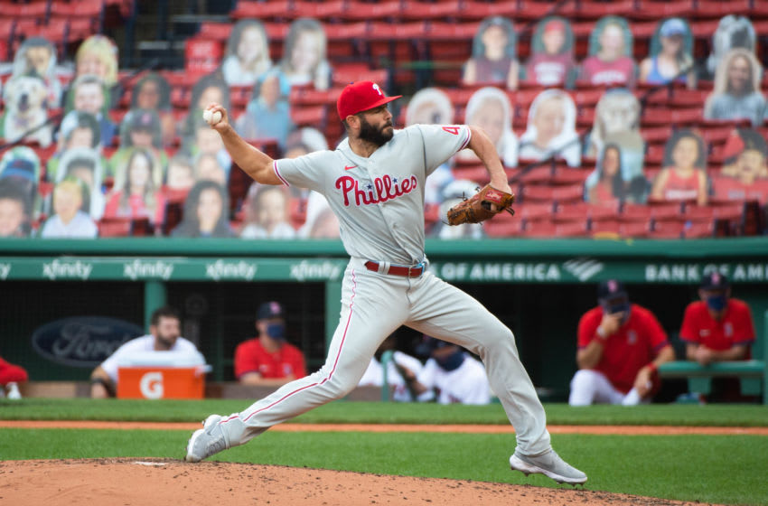 Jake Arrieta #49 of the Philadelphia Phillies (Photo by Kathryn Riley/Getty Images)