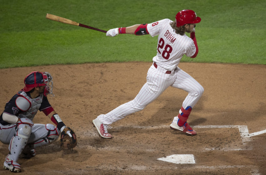 Alec Bohm #28 of the Philadelphia Phillies (Photo by Mitchell Leff/Getty Images)