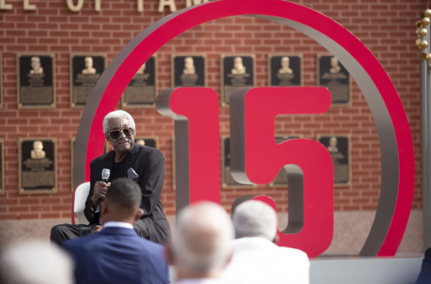 Late Philadelphia Phillies legend Dick Allen (Photo by Mitchell Leff/Getty Images)