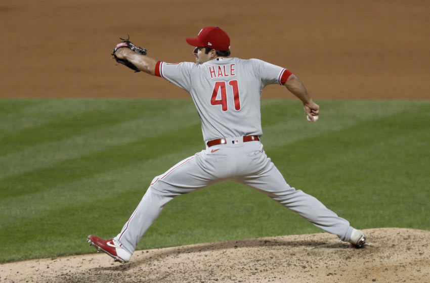 David Hale #41 of the Philadelphia Phillies (Photo by Jim McIsaac/Getty Images)
