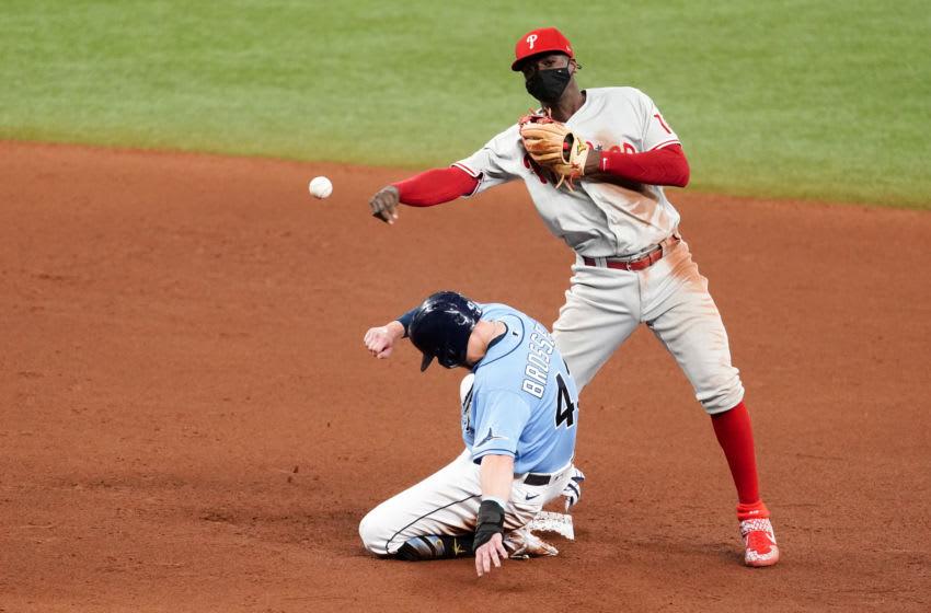 Didi Gregorius #18 of the Philadelphia Phillies (Photo by Douglas P. DeFelice/Getty Images)