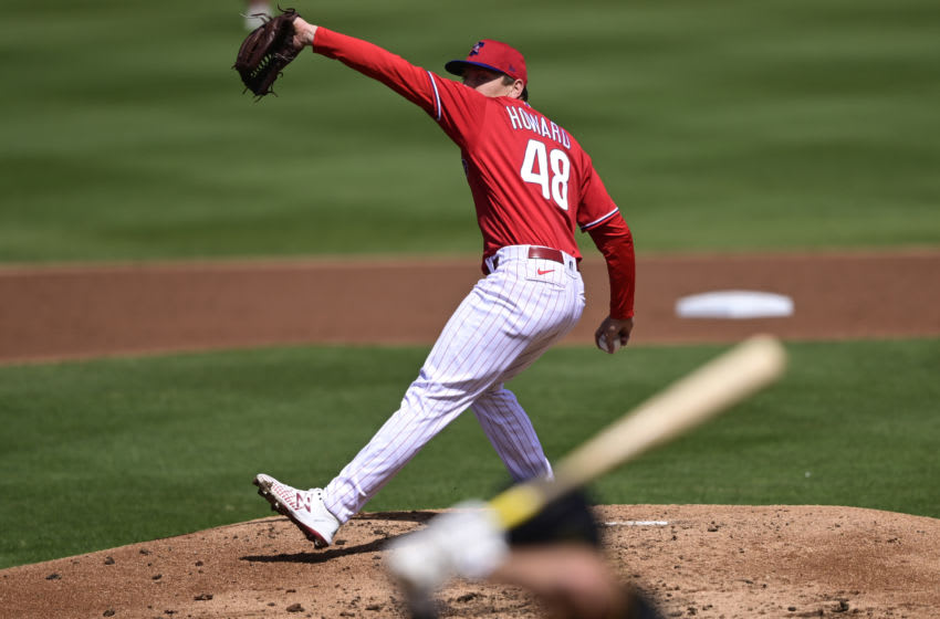 Spencer Howard #48 of the Philadelphia Phillies (Photo by Douglas P. DeFelice/Getty Images)