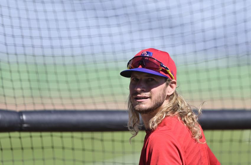 Travis Jankowski #9 of the Philadelphia Phillies (Photo by Douglas P. DeFelice/Getty Images)