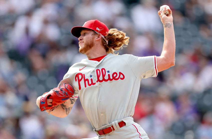 Pitcher Bailey Falter #70 of the Philadelphia Phillies (Photo by Matthew Stockman/Getty Images)