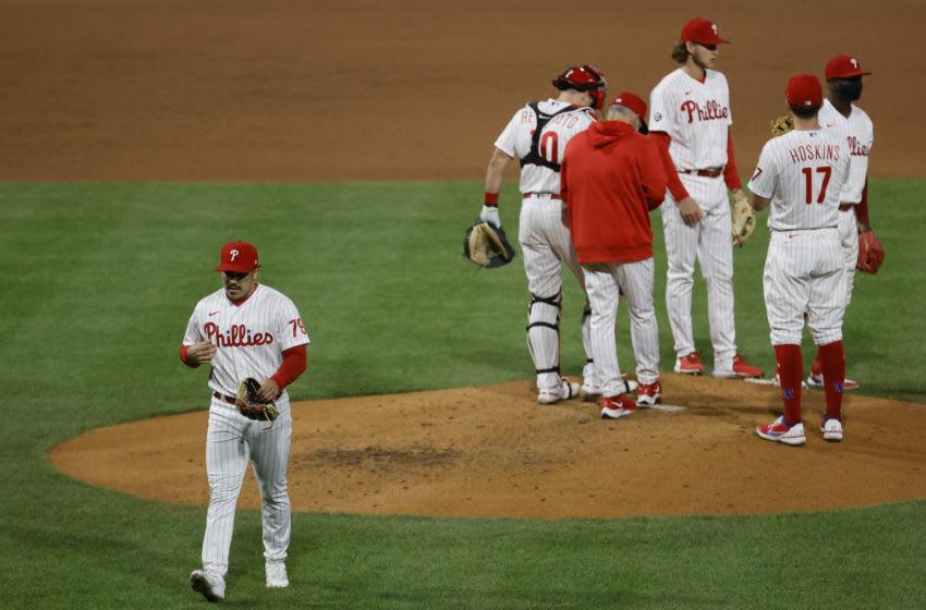 JoJo Romero #79 of the Philadelphia Phillies (Photo by Tim Nwachukwu/Getty Images)