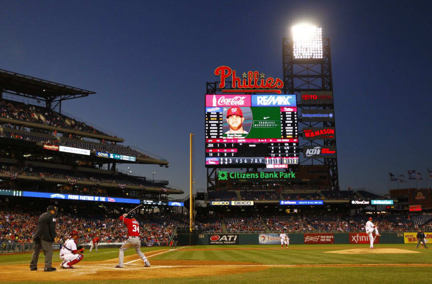 PHILADELPHIA, PA - APRIL 11: A general view during the first inning of the Washington Nationals v Philadelphia Phillies at Citizens Bank Park on April 11, 2015 in Philadelphia, Pennsylvania. (Photo by Rich Schultz/Getty Images)