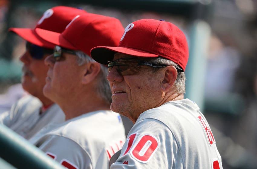 Larry Bowa #10 of the Philadelphia Phillies (Photo by Leon Halip/Getty Images)