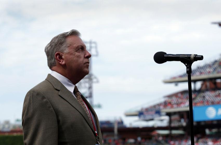 Stadium public address announcer Dan Baker (Photo by Hunter Martin/Getty Images)