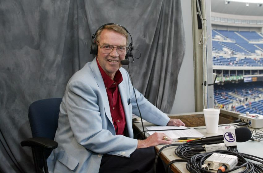 Hall of Fame announcer Harry Kalas (Photo by Hunter Martin/Getty Images)