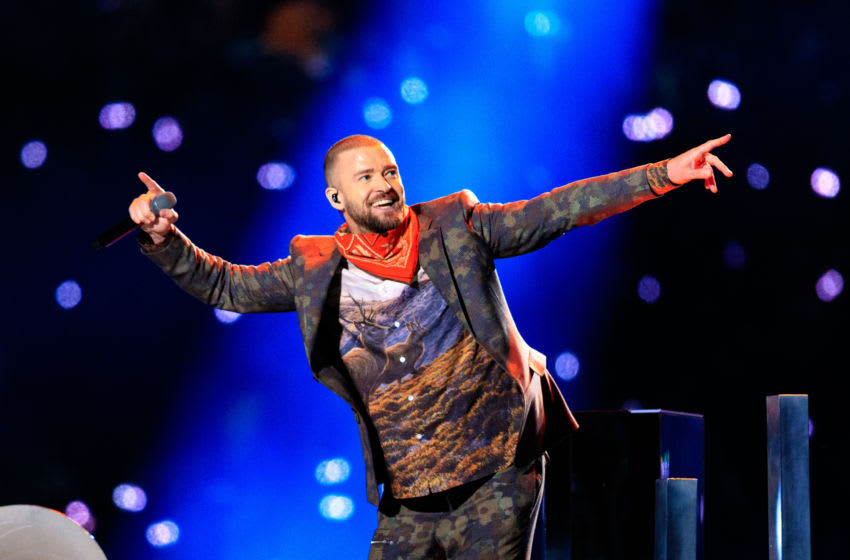 Recording artist Justin Timberlake performs (Photo by Christopher Polk/Getty Images)