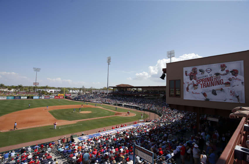 SARASOTA, FL- MARCH 09: A general view of Spectrum Field during the game between the Philadelphia Phillies and the Toronto Blue Jays on March 9, 2017 at Spectrum Field in Clearwater, Florida. (Photo by Justin K. Aller/Getty Images)